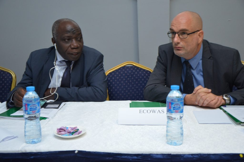 Dr Balami Director Family Planning Unit, FMoH and Arjan De Wart Unicef Nutrition Specialist @ CS-SUNN National Town Hall Meeting/Public presentation of NSPAN.
