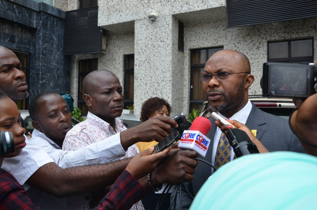 PS FMoH Speaking to the Press