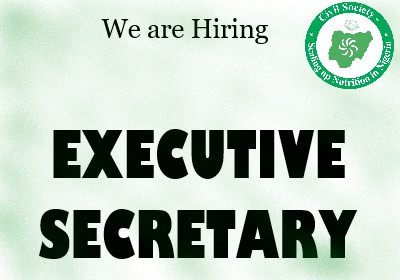 VACANCY ANNOUNCEMENT- SEARCH FOR EXECUTIVE SECRETARY AT CIVIL SOCIETY – SCALING UP NUTRITION IN NIGERIA (CS-SUNN)